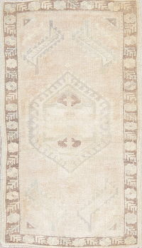 Muted Oushak Turkish Hand-Knotted 2x3 Wool Rug