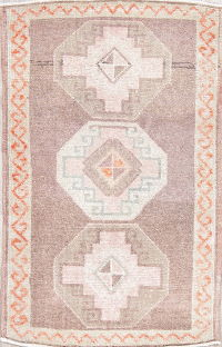 Oushak Turkish Oriental Hand-Knotted 2x3 Wool Rug