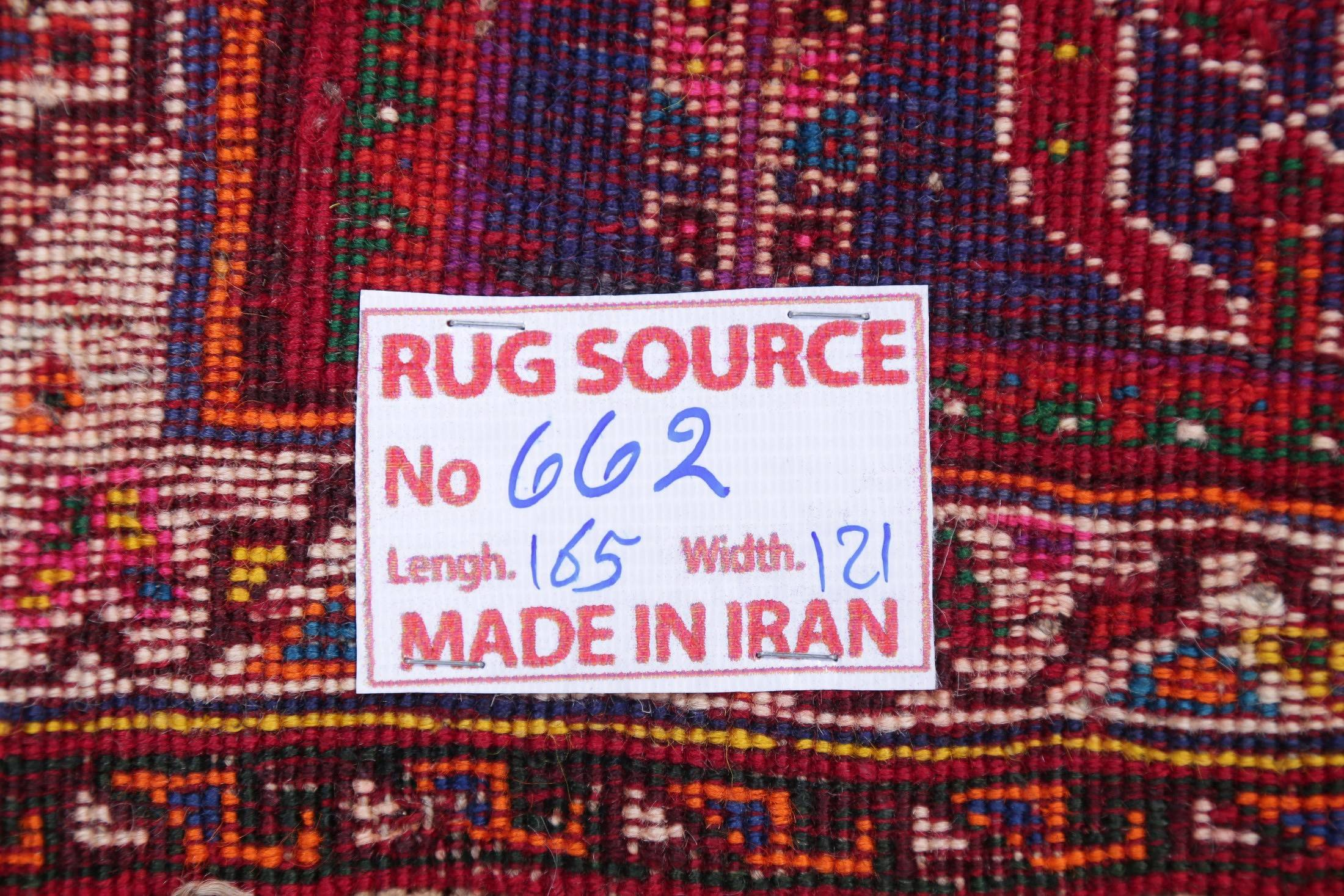 One of a Kind Tribal Abadeh Nafar Persian Hand-Knotted 4x5 Wool Area Rug