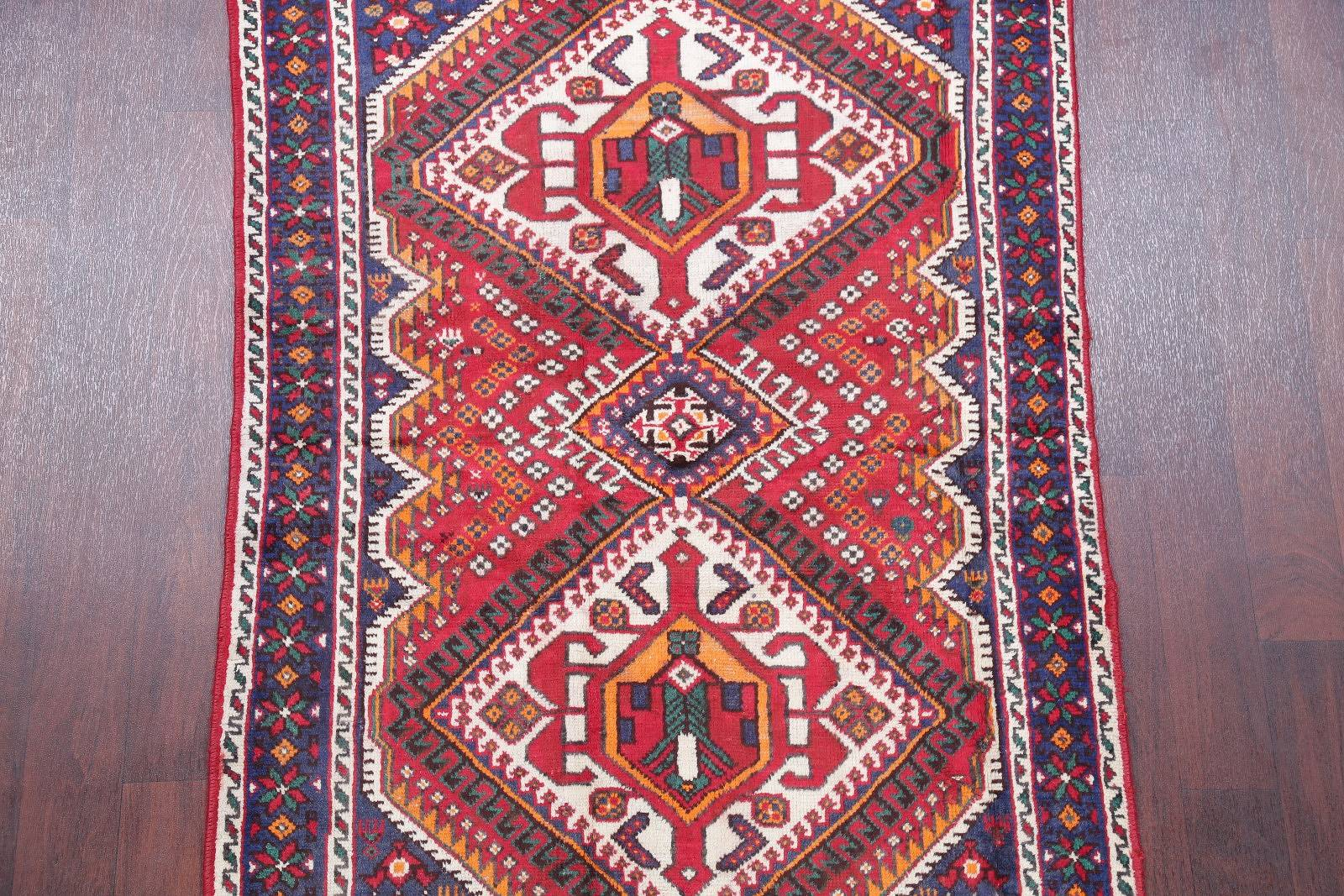 One of a Kind Tribal Sirjan Persian Hand-Knotted 4x6 Wool Area Rug