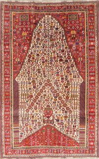 Tribal Geometric Kashkoli Persian Wool Area Rug 5x8