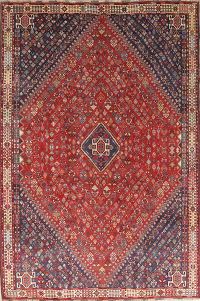 Pre 1900 Vegetable Dye Tribal Abadeh Persian Hand-Knotted 6x9 Wool Area Rug