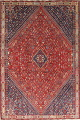 Pre-1900 Antique Vegetable Dye Abadeh Persian Area Rug 6x9 image 1