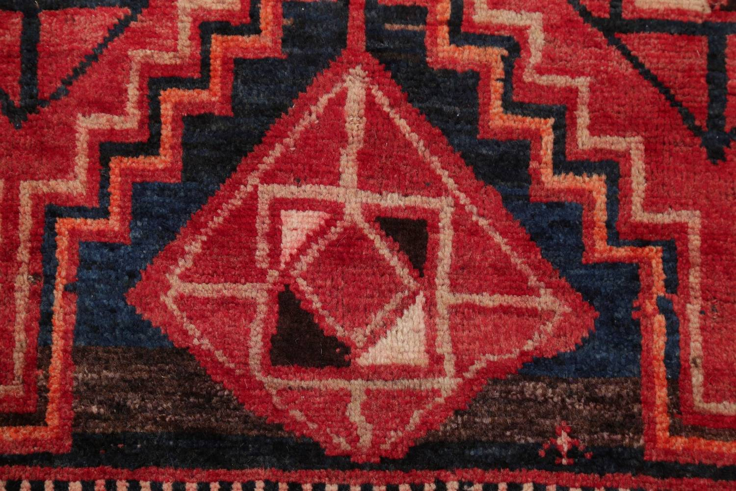 One of a Kind Antique Geometric Lori Persian Hand-Knotted 5x9 Wool Area Rug image 7