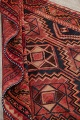 One of a Kind Antique Geometric Lori Persian Hand-Knotted 5x9 Wool Area Rug image 21