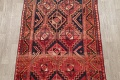 One of a Kind Antique Geometric Lori Persian Hand-Knotted 5x9 Wool Area Rug image 3