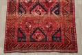One of a Kind Antique Geometric Lori Persian Hand-Knotted 5x9 Wool Area Rug image 5