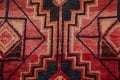One of a Kind Antique Geometric Lori Persian Hand-Knotted 5x9 Wool Area Rug image 9