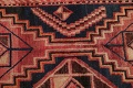 One of a Kind Antique Geometric Lori Persian Hand-Knotted 5x9 Wool Area Rug image 10