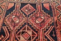 One of a Kind Antique Geometric Lori Persian Hand-Knotted 5x9 Wool Area Rug image 17