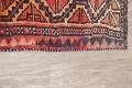 One of a Kind Antique Geometric Lori Persian Hand-Knotted 5x9 Wool Area Rug image 18