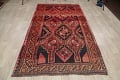 One of a Kind Antique Geometric Lori Persian Hand-Knotted 5x9 Wool Area Rug image 20