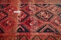 One of a Kind Antique Geometric Lori Persian Hand-Knotted 5x9 Wool Area Rug image 12