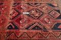 One of a Kind Antique Geometric Lori Persian Hand-Knotted 5x9 Wool Area Rug image 16