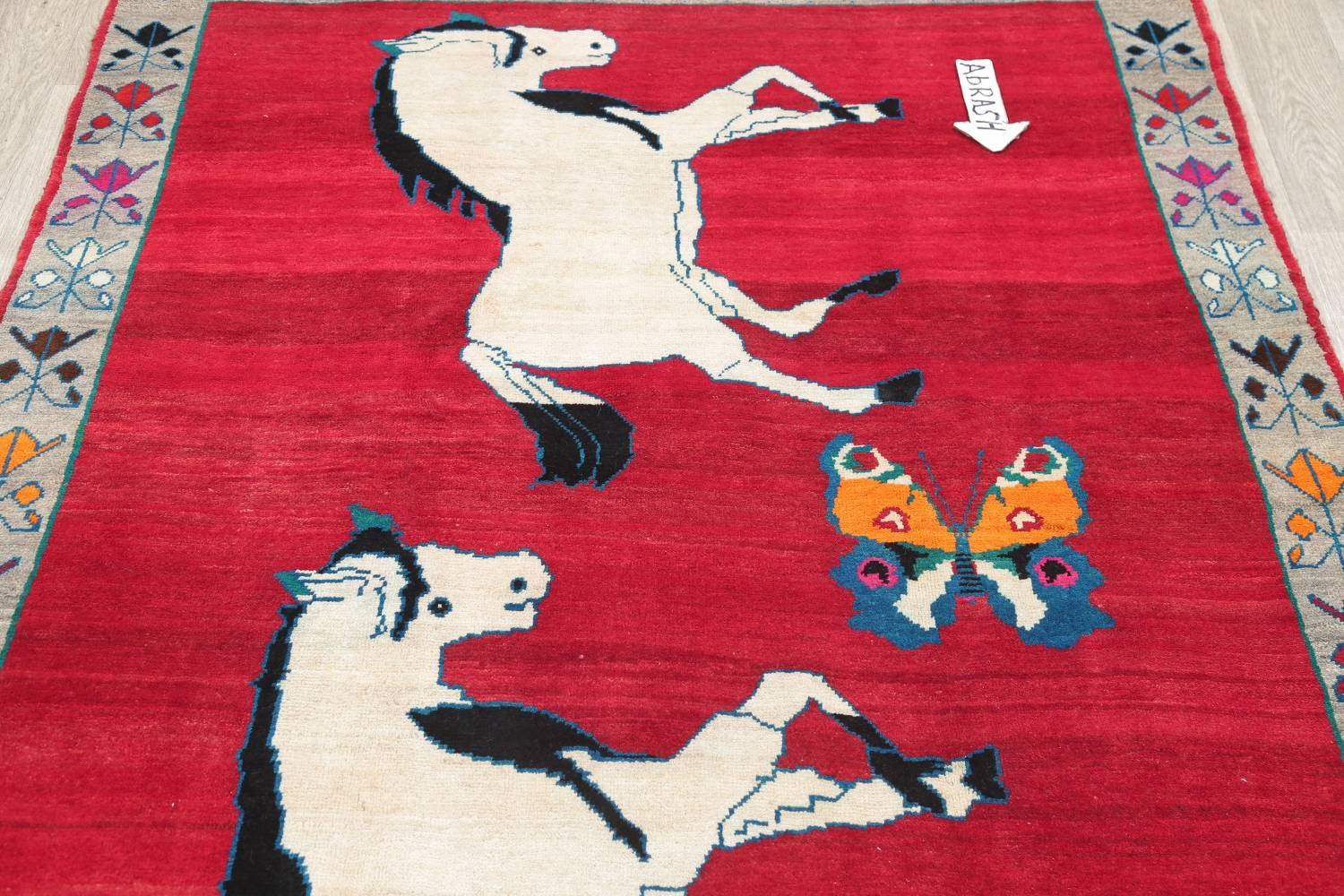 Animal Pictorial Gabbeh Persian Hand-Knotted 5x8 Wool Area Rug image 10