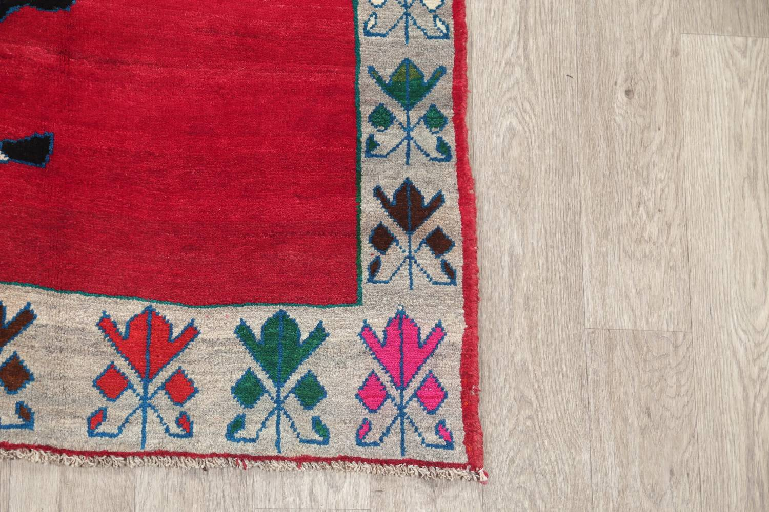 Animal Pictorial Gabbeh Persian Hand-Knotted 5x8 Wool Area Rug image 6