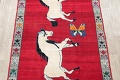 Animal Pictorial Gabbeh Persian Hand-Knotted 5x8 Wool Area Rug image 3