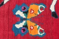 Animal Pictorial Gabbeh Persian Hand-Knotted 5x8 Wool Area Rug image 7