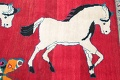 Animal Pictorial Gabbeh Persian Hand-Knotted 5x8 Wool Area Rug image 9