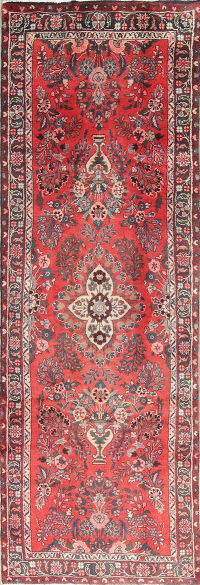 One of a Kind Floral Malayer Persian Hand-Knotted 2x7 Wool Runner Rug