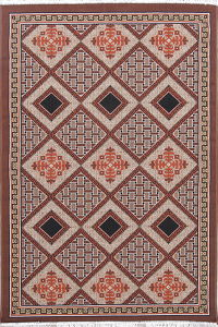 Geometric Kilim Shiraz Persian 5x7 Area Rug