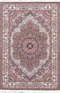 Brown Floral Tabriz Turkish Oriental 5x7 Area Rug