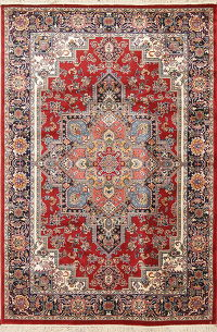 Red Geometric Heriz Turkish Oriental 5x8 Area Rug