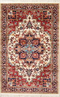 Geometric Heriz Turkish Oriental Rug