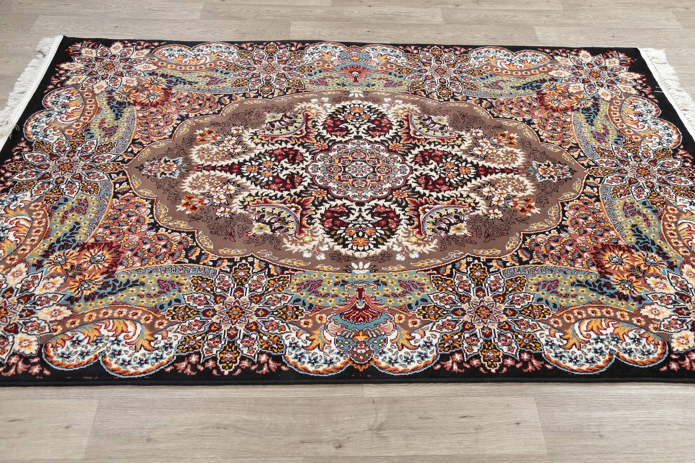 Brown Geometric Traditional Style Turkish Oriental 4x7 Area Rug