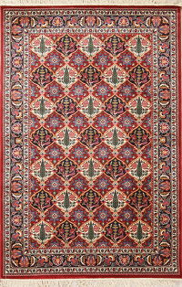 All-Over Floral Red Bakhtiari Turkish Oriental 5x8 Area Rug