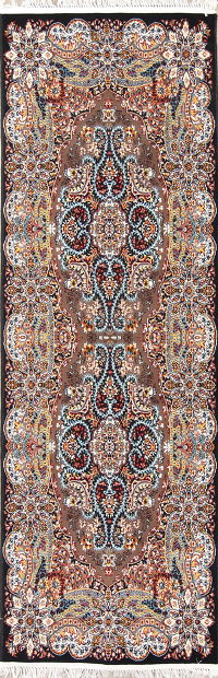 Geometric Tabriz Turkish Oriental 3x10 Runner Rug