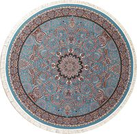 Blue Floral Hereke Turkish Oriental 8x8 Round Area Rug