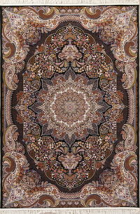 Floral Medallion Tabriz Turkish Oriental 7x10 Area Rug