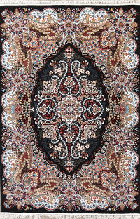 Black Floral Oushak Turkish Oriental 7x10 Area Rug
