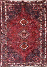 Vintage Red Tribal Kashkoli Persian Hand-Knotted 6x9 Wool Area Rug