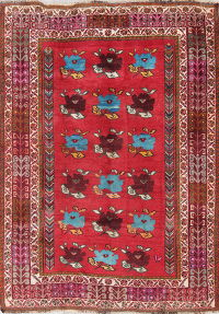 One-of-a-Kind Kashkoli Shiraz Persian Hand-Knotted 5x7 Wool Area Rug