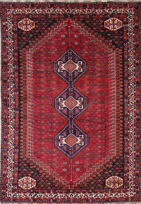 Antique Tribal Geometric Lori Persian Hand-Knotted 7x10 Wool Area Rug