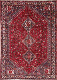 Antique Tribal Qashqai Persian Hand-Knotted 7x10 Area Rug