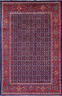 One-of-a-Kind All-Over Floral Mahal Persian Hand-Knotted 7x11 Wool Rug