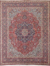 Pre-1900 Vegetable Dye Tabriz Persian Hand-Knotted 8x10 Area Rug