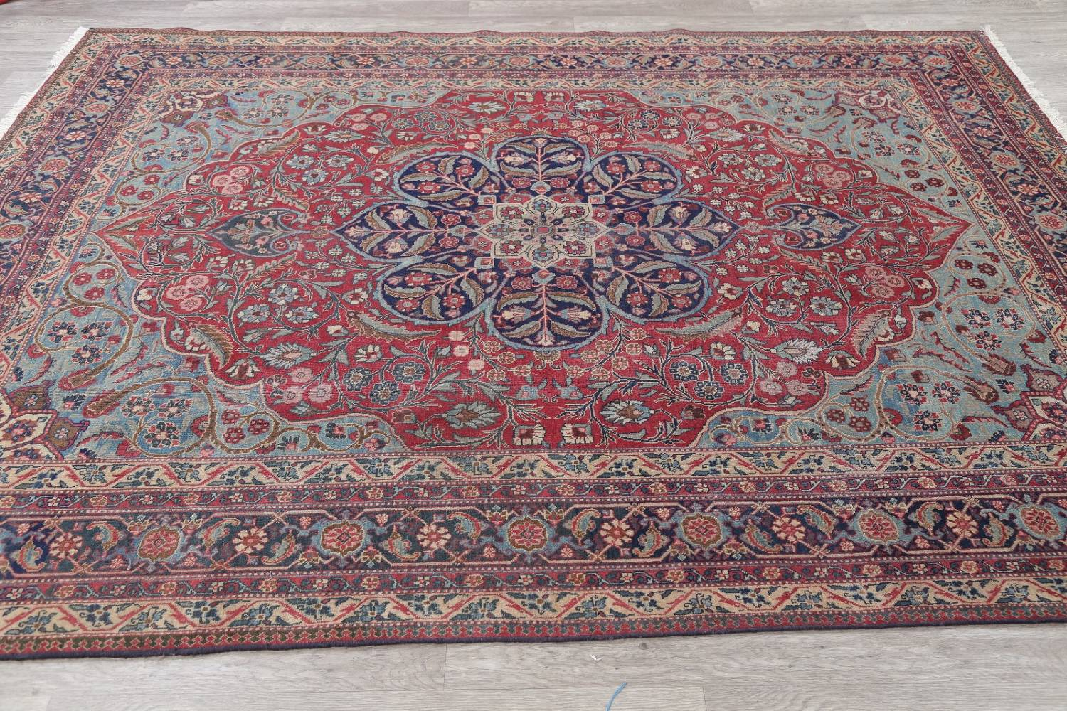 Pre 1900 Vegetable Dye Tabriz Persian Hand Knotted 8x10