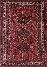 Antique Tribal Geometric Lori Persian Hand-Knotted 7x9 Wool Area Rug