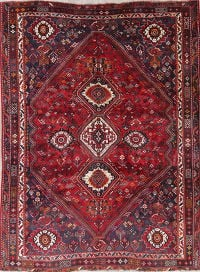One-of-a-Kind Tribal Geometric Kashkoli Persian Hand-Knotted 7x10 Wool Area Rug