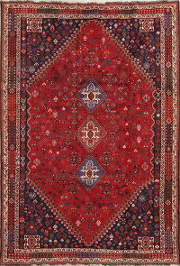 Vegetable Dye Tribal Abadeh Nafar Persian Hand-Knotted 6x9 Wool Area Rug