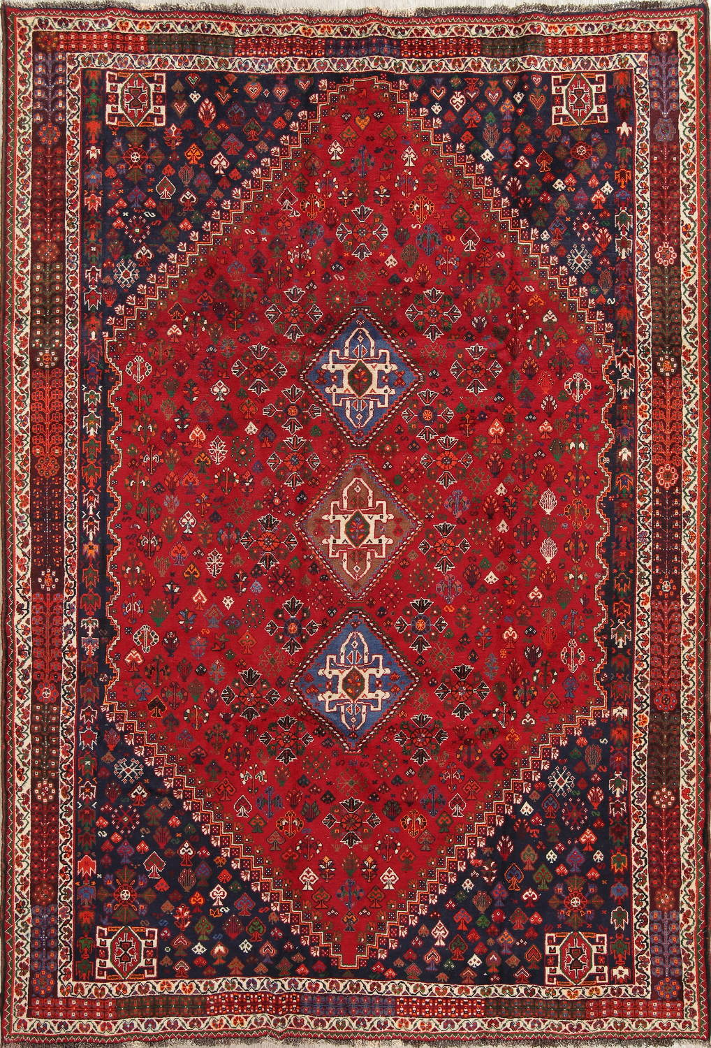Vegetable Dye Tribal Abadeh Nafar Persian Hand-Knotted 6x9 Wool Area Rug image 12