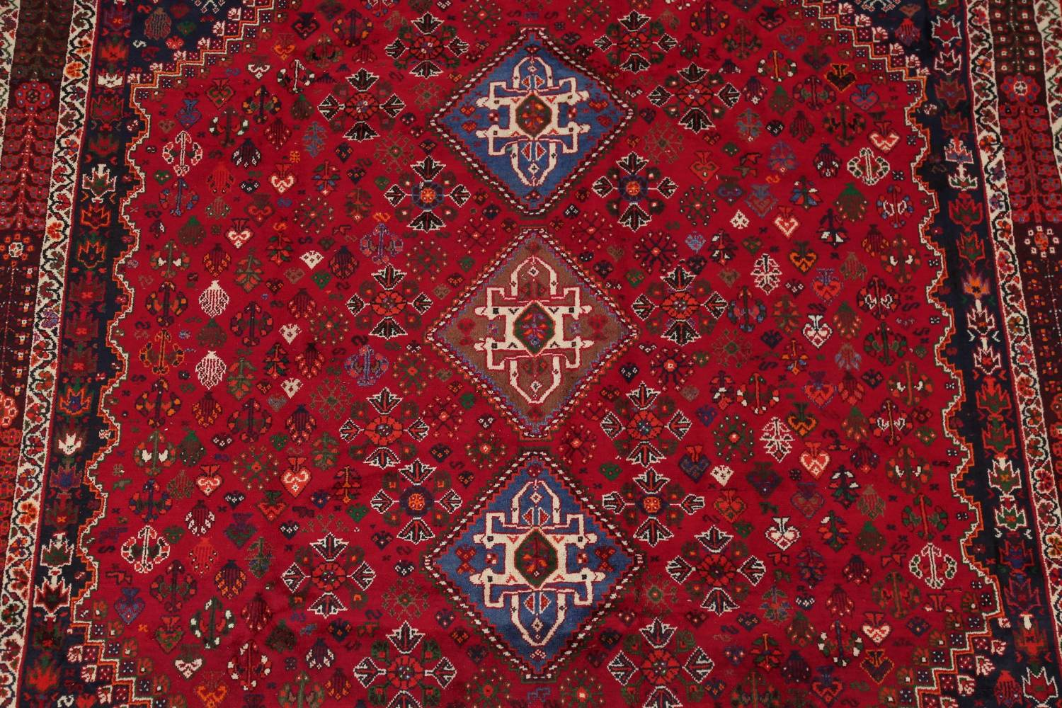 Vegetable Dye Tribal Abadeh Nafar Persian Hand-Knotted 6x9 Wool Area Rug image 19
