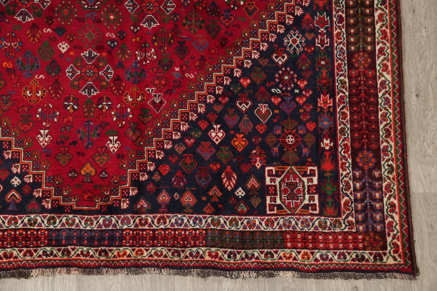 Vegetable Dye Tribal Abadeh Nafar Persian Hand-Knotted 6x9 Wool Area Rug image 17