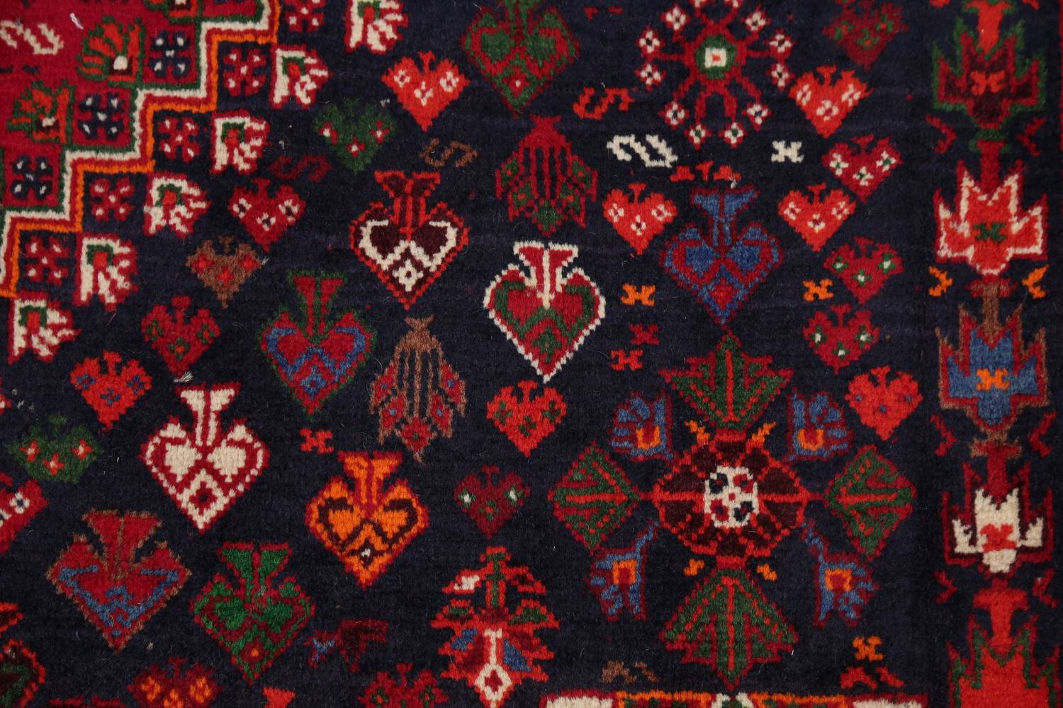 Vegetable Dye Tribal Abadeh Nafar Persian Hand-Knotted 6x9 Wool Area Rug image 16