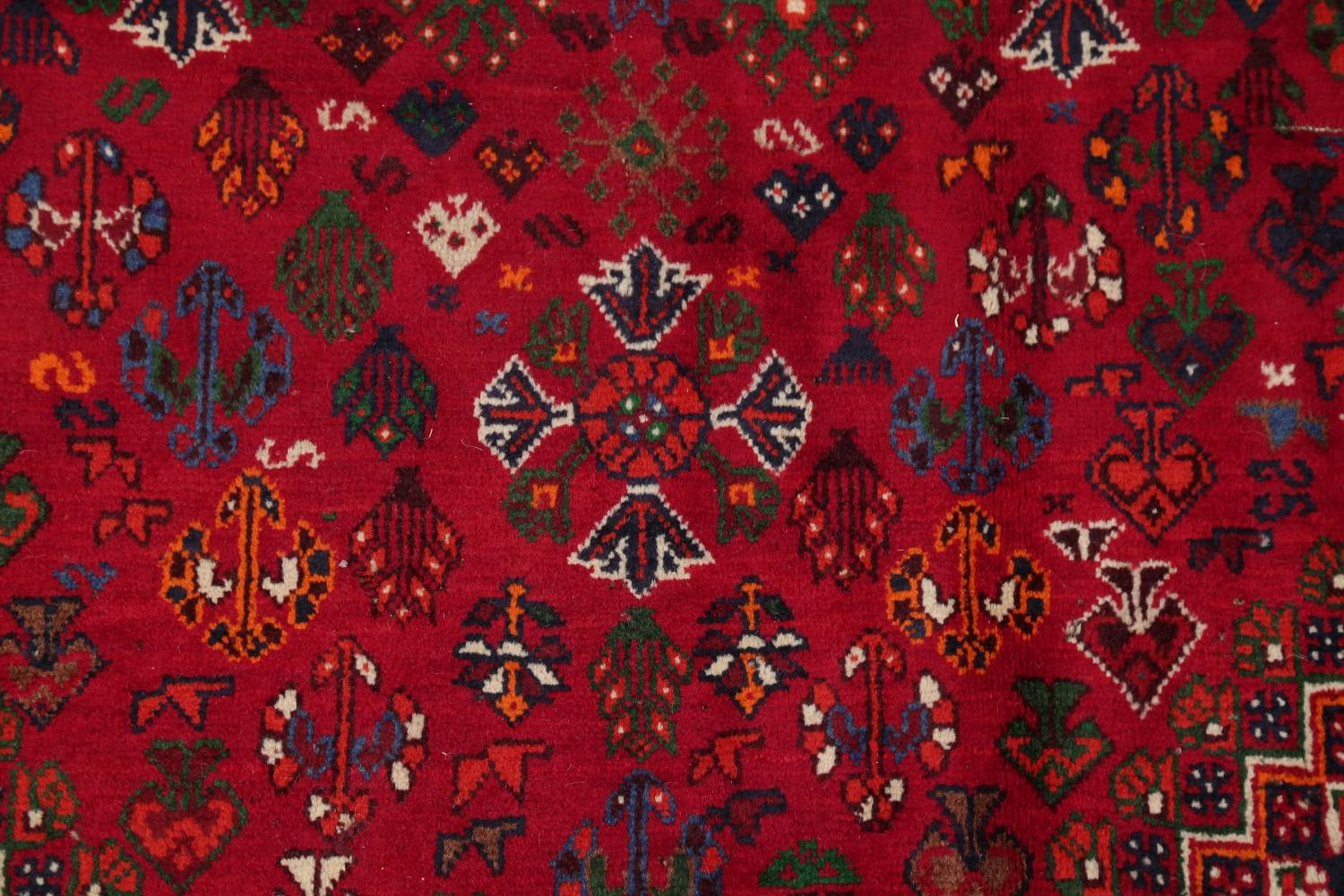 Vegetable Dye Tribal Abadeh Nafar Persian Hand-Knotted 6x9 Wool Area Rug image 15