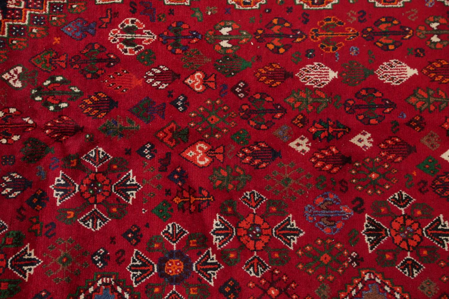Vegetable Dye Tribal Abadeh Nafar Persian Hand-Knotted 6x9 Wool Area Rug image 13